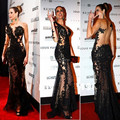 New Design Lace Appliques Black Sweetheart Mermaid Side Split See Through Sheer Sexy Celebrity Dresses Evening Dress Long
