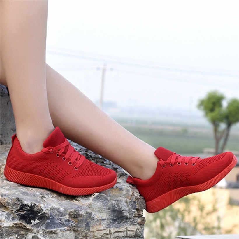 Женские кроссовки для бега из дышащей сетки; женская спортивная обувь; женские кроссовки на шнуровке; женская обувь высокого качества; 0911