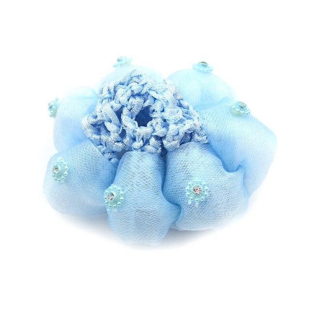 Baby Kids Bun Cover Snood Hair Net Sleep Ballet Dance Skating Crochet Decor H.dr