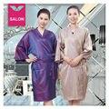 A021 de plata púrpura adultos Salon SPA vestido túnica de gala del corte del cabo