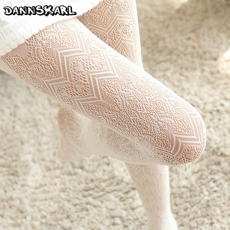Summer Women Fishnet Tights Love Wave Sexy Female Pantyhose Stockings Hollow Out Silk Stockings For Girl Woman Collant Hosiery