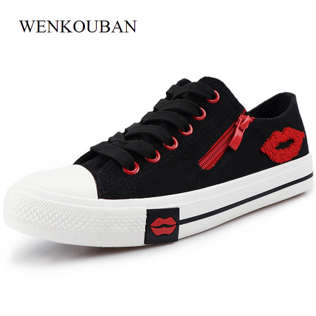 02a85207b7 Aliexpress.com : Buy Sneakers Women Shoes Casual White Sneakers Female  Canvas Shoes Lace Up Basket Femme Laides Trainers Summer Zapatos Mujer Zip  Lip ...