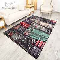CIGI Vintage Nylon Carpet Artistic Carpet Anti Skid Floor Mat For Kitchen Living Room Hallway Bedroom