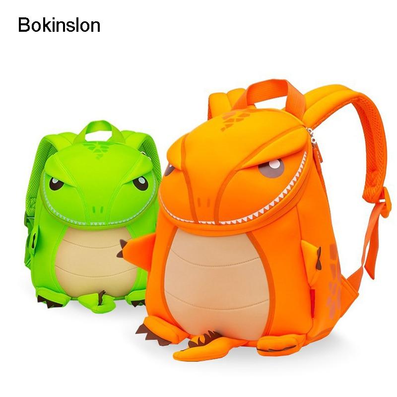 Bokinslon Backpacks For Child Nylon Animal Shape Kids Backpack Bags Cartoon Printing Cute Backpacks Unisex jasmine traveling unisex graffiti backpacks 3d printing bags drawstring backpack sep28