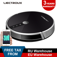LIECTROUX Robotic Vacuum Cleaner C30B, 3000Pa Suction,2D Map Navigation,Memory, Map Shown on WiFi App,350ml Electric Water Tank,