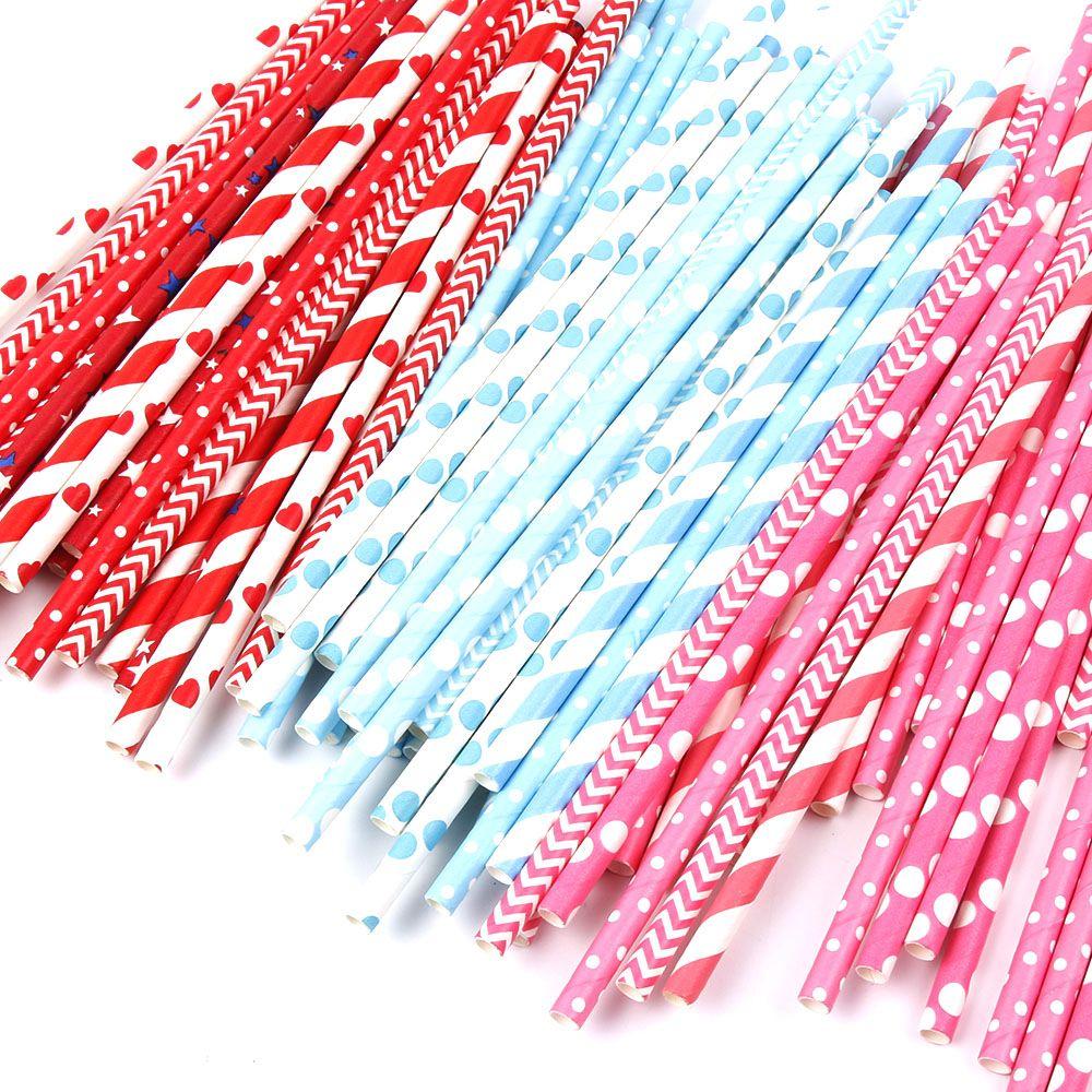 ᗖ25 unids/lote pajas de papel para niños fiesta de cumpleaños de la ...