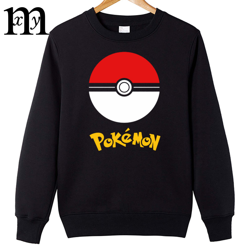 2017 Pokemon Go hoodies Men Cotton hoodies Worlds Hot Mobile Game Pokemon Men Boy fashion hoodies