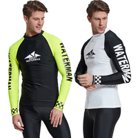 Sbart 1PC Men Scuba Snorkeling T Shirts Wetsuits Diving Suits Tops Long Sleeves Surfing Rash Guards Male Bathing Suits 2018