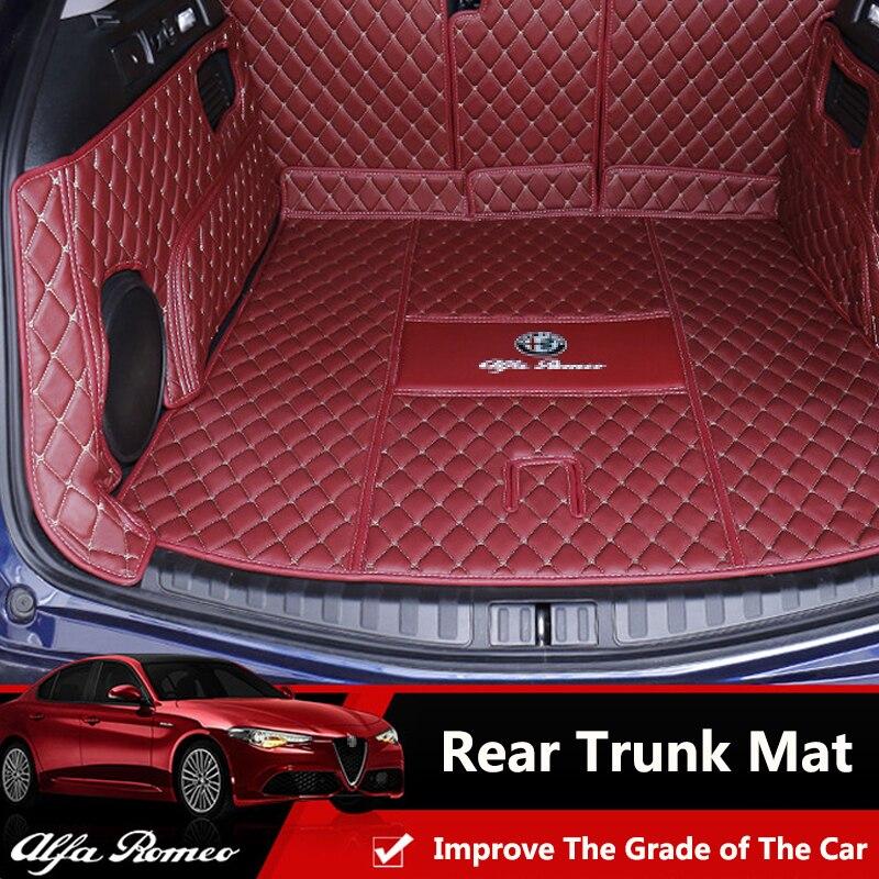 QHCP автомобильный коврик для багажника, грузовая подкладка из микрофибры, Задняя накладка для багажника, анти грязный поднос для багажника, ...