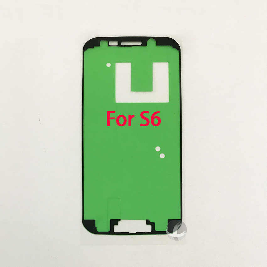 1 قطعة الجبهة إطار LCD شاشة لاصق لسامسونج غالاكسي S3 S4 S5 S6 S7 حافة S8 S9 S10 زائد ملصق مضاد للمياه الغراء