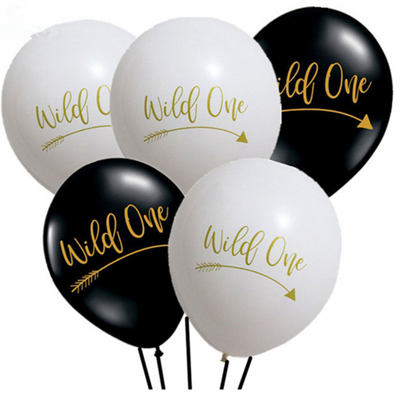 Wild One Latex Balloons Wild Boy First Birthday Party Decoration Supplies
