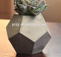 3d vase Silicone Mold concrete cement silicone molds pentagon Garden craft planters molds for concrete soap moulds S5187B