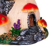 Ankoow Red Mushroom House Mini Landscape House Fairy Garden Decoration Resin Crafts Ornament Miniature Fairy Garden Accessories
