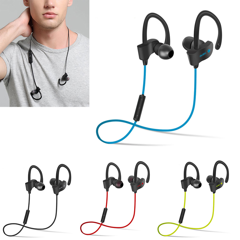 New Bluetooth Earphone Wireless Sport Earbuds V4.1 with Mic Hands-free Stereo Headset for iPhone 6/6s Plus Samsung S6 Huawei mini bluetooth earphone smallest wireless headset earbuds with 6 hour playtime car headset with mic for iphone android phone