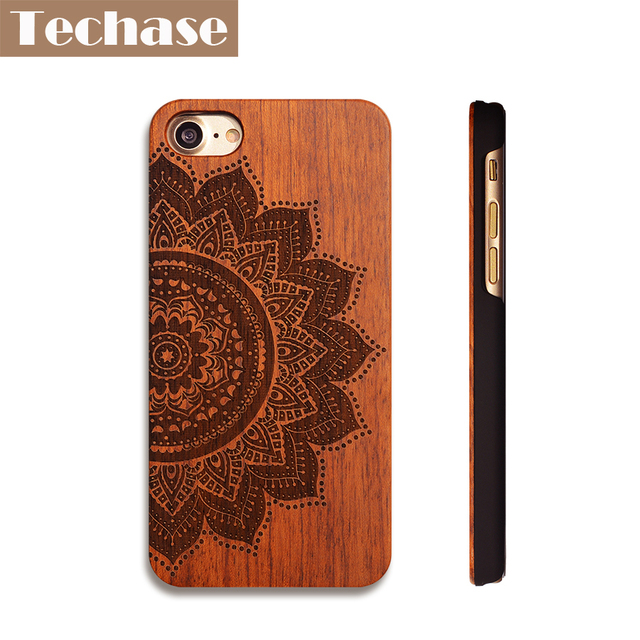 Us 50 Techase Wooden Phone Cases For Iphone X 4 5 6 7 8 Plus For Xiaomi 6 Samsung S7 Huawei P9 Lite Oneplus 5 One Plus 3 Oppo R9 Case In Fitted