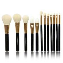 Pro Pinceles de Maquillaje En Polvo Sombra de Ojos Fundación Lip Herramienta Pincel de pelo de cabra Kit