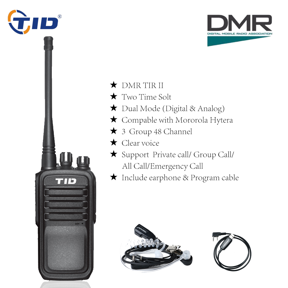TID TD-V28D talkie-walkie DMR Radios UHF 400-470 MHz 5 W analogique et numérique double Modes émetteur Radio Portable