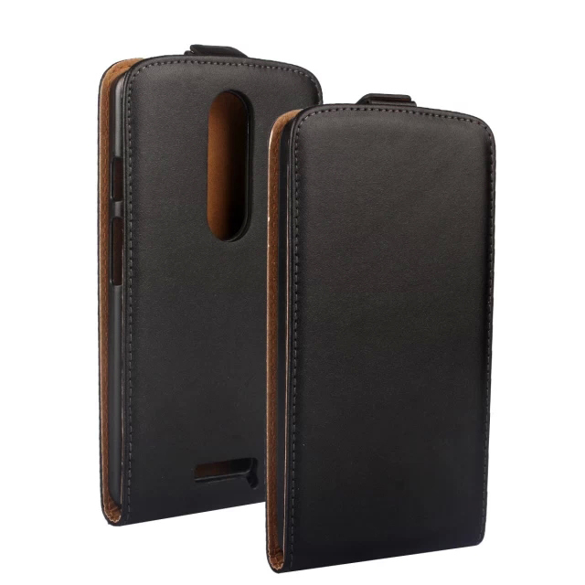 For Motorola Moto X Play / X3 Lux XT1562 XT1563 5.5 inch Genuine Leather Vertical Flip Case Cover , Protective Phone Bag Holster