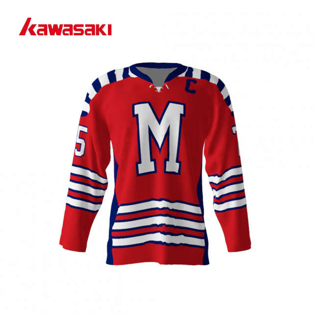 efe8f40b7 Online Shop Kawasaki Brand Ice Hockey Jersey Top Youth Mens Custom 75  Plus  Size XS-4XL Quick Dry With Rope Hockey Game Practice Shirt