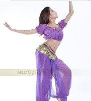 China Register Post Free Shipping Charming Belly Dance Dancing Costume Lantern Sleeves Top Tees Set