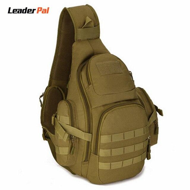 Equipamento militar Mochila Sling Peito Bag Pacote Molle Bagpack Laptop Grande Capacidade Shoulder Bag Crossbody Dever Engrenagem para Caminhada X212