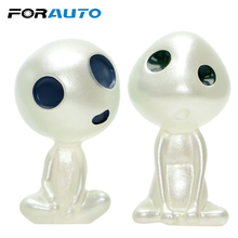 FORAUTO Car Ornament Alien Dolls Luminous Mini Cartoon Resin Cute Auto Dashborad Decoration Car-styling Interior Accessories