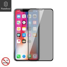 Nambosi Privacy screen protector for iPhone x xs xr xs max tempered glass for iPhone xs x xr xs max anti peeping glass