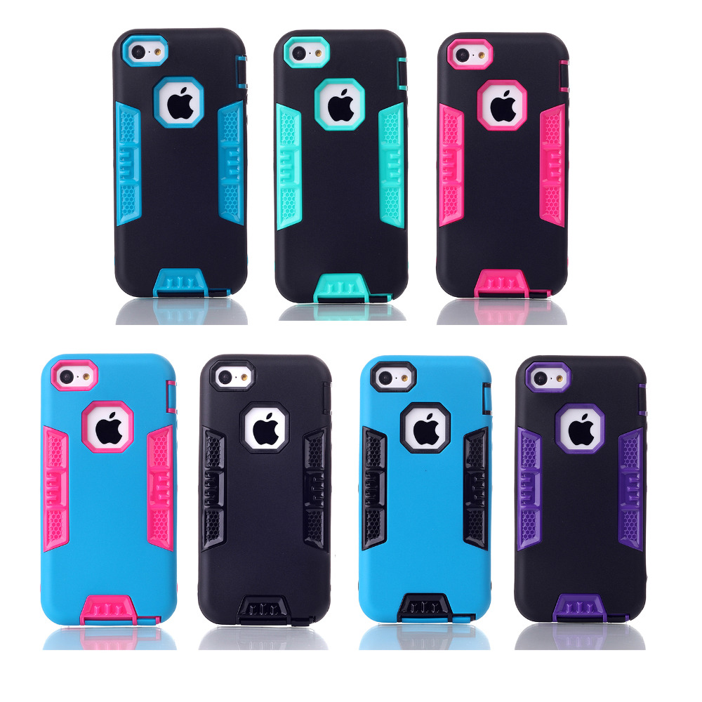 Fundas Phone Shell For Apple iPhone SE & 5S & 5 & 5C Back Cover Dual Color Design Shockproof Cases Aifon Couqe Etui Capa