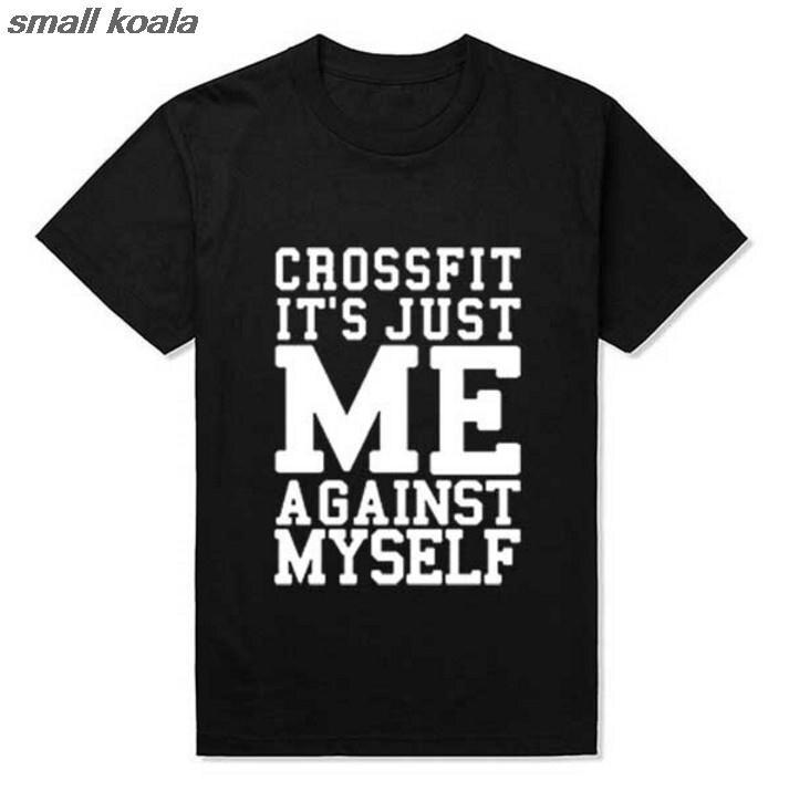 d50ea2b9cb76 Тренировки Фитнес Шестерни одежда футболка Crossfit мне против себе эко  футболка Для мужчин футболки Для мужчин одежда
