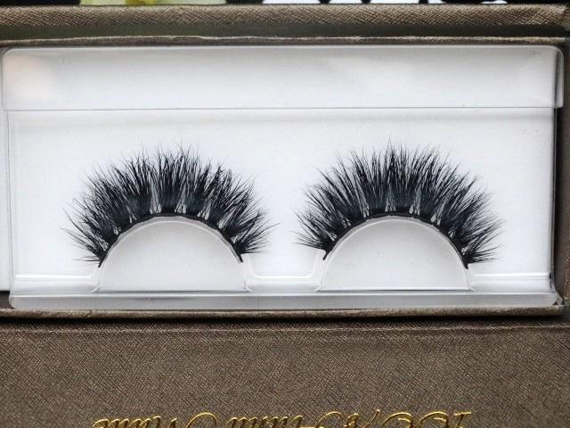 75de1aa92de Women Lady Real Natural Siberian Mink Strip Thick Fake Volume Eyelashes  Soft False Eye Lashes Extension