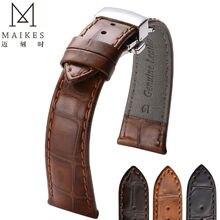 Maikes винтажный стиль натуральная кожа часы 20 мм 22 мм для роскошные часы аксессуар кожаный ремешок