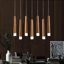 LukLoy Holz Stick Anhänger Lampe Licht, Küche Insel Wohnzimmer Shop Dekoration Moderne Nacht Natürliche Holz Rohr Anhänger Lichter