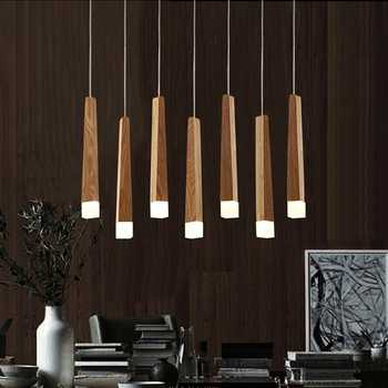 LukLoy Wood Stick Pendant Lamp Light, Kitchen Island Living Room Shop Decoration Modern Bedside Natural Wood Pipe Pendant Lights - DISCOUNT ITEM  8% OFF All Category