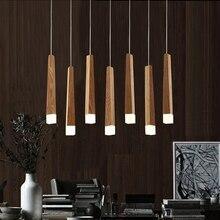 LukLoy ウッドスティックペンダントランプライト、キッチン島リビングルームショップ装飾近代的なベッドサイド天然木管ペンダントライト
