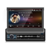 1 Din Car GPS Navigation Player For Universal Car Radio Music Bluetooth Rear View Camera SD