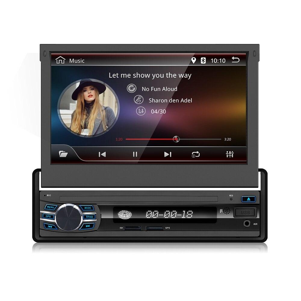 1 Din Car GPS Navigation player for universal car Radio Music Bluetooth Rear View Camera SD USB For Auto radio 1din gps gps магнитолу 1din