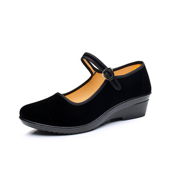 Spring Women Pumps Black Red Low Heel Shoes Mary Jane Shoes Nude Pumps Ladies Cloth Shoes Comfort Women China Pumps Lady Heels Обувь