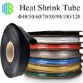 40/50/60/70/80/90/100/120mm Assorted Tubo Do Psiquiatra Do Calor 7 Cores 8 Tamanhos Manga de Isolamento Heatshrink Tubos Wire Wrap Cabo Kit
