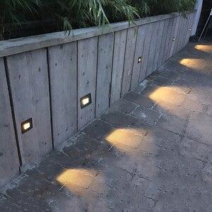 Image 3 - 10 stks 3 w led Trap Licht met Embedded box Aluminium Stap Lichten Outdoor Waterdichte IP65 LED Wall Lamp Footlight PRO 04
