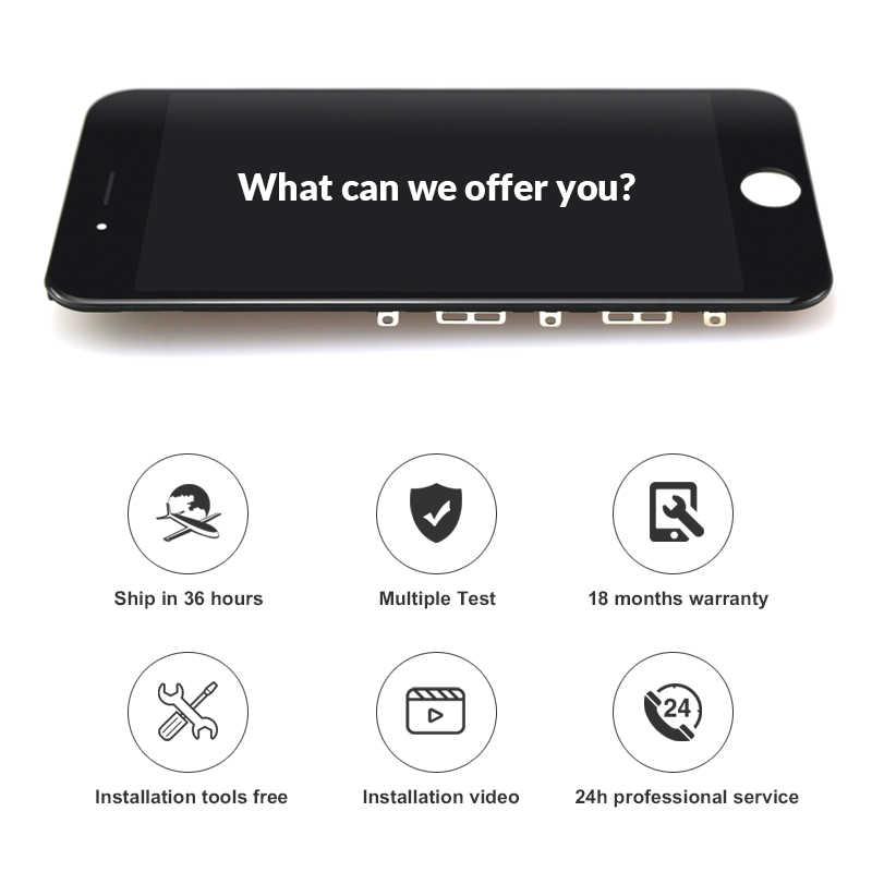 10 個天馬品質 iphone 6S 液晶画面デジタイザディスプレイアセンブリの交換白 & 黒 + カメラホルダー