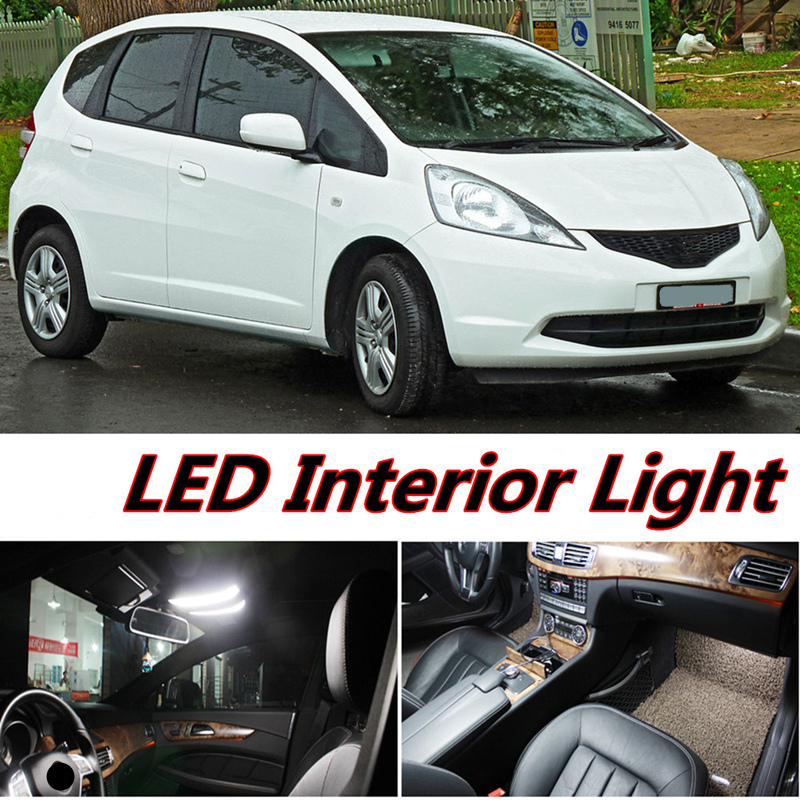 Tcart 4pcs X Free Shipping Error LED Interior Light Kit Package For Honda Fit Jazz Accessories 2007 2014 In Signal Lamp From Automobiles Motorcycles