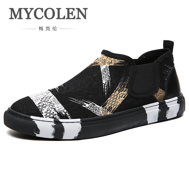 MYCOLEN 2018 New Fashion Canvas Shoes Men Loafers Low Top Breathable High Quality Flat Heel Male Brand Shoes Zapatos Hombres forudesign autumn candy colors canvas shoes high top quality flat with canvas shoes for women breathable zapatos tenis feminino