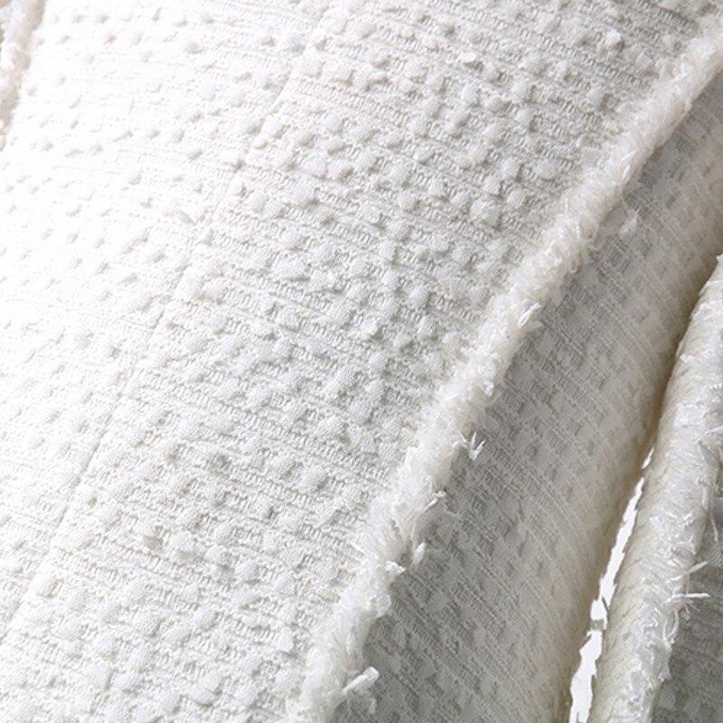 Fit Long De Veste Femelle Manteau Survêtement Affaires Slim Mode Boutonnage Femmes Manteaux 2019 Solid Marque Double Dame Tweed Décontractée White Nouvelle wtCqXFz