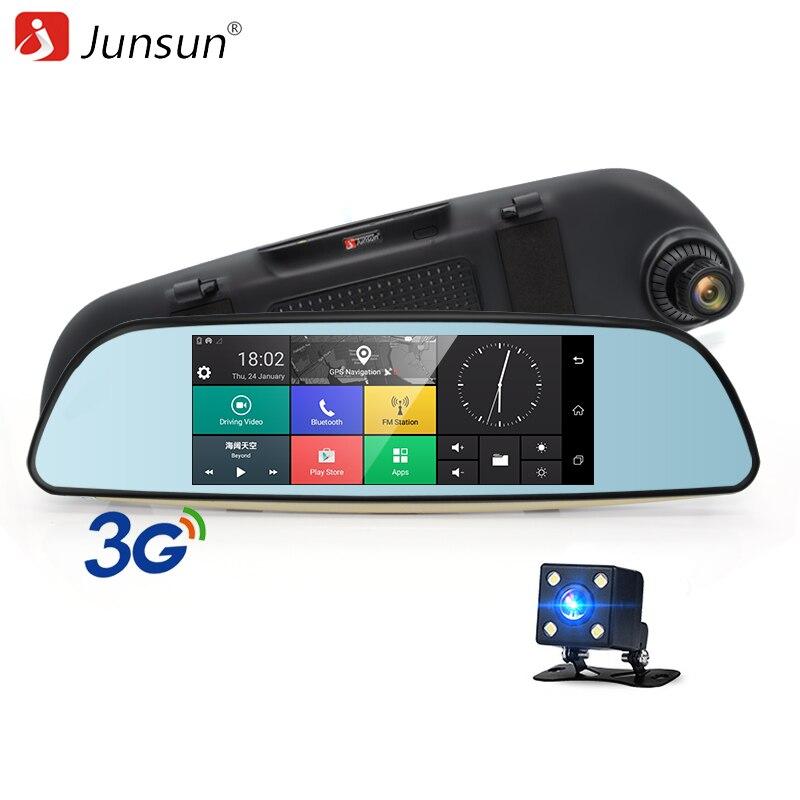 Junsun E515 font b Car b font DVRs 6 5 Android 5 0 mirror DVR 3G