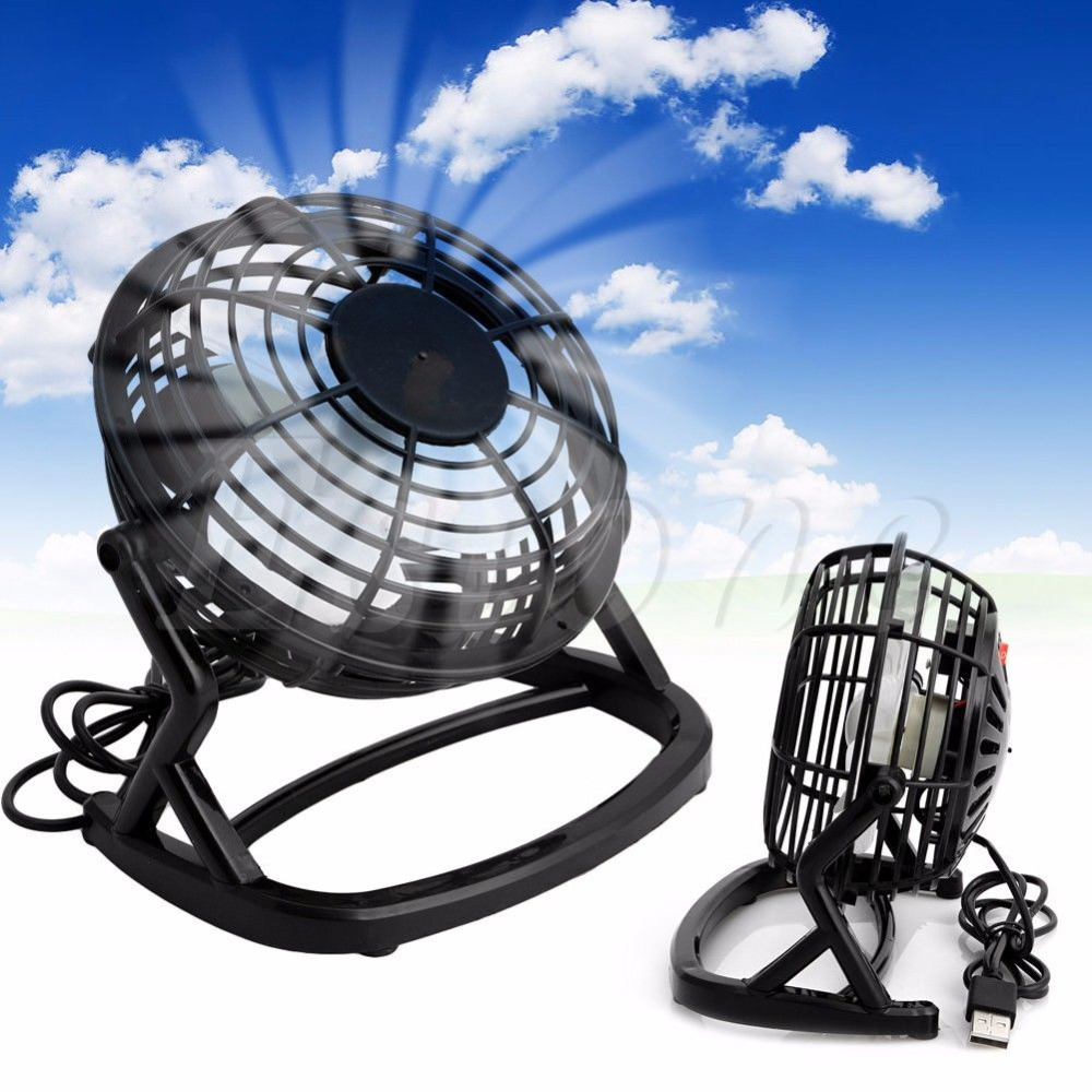 Стол охлаждения мини вентилятор Тетрадь ноутбук Портативный Супер Mute ПК USB Cooler Бюро мини вентилятор черный