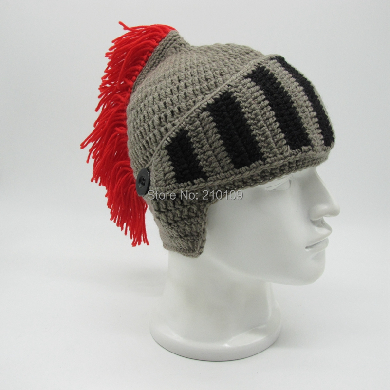5 Red Tassel roman hat with mask