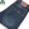2015 Primavera Marca de Jeans do Homem, AFS JEEP Alta Qualidade Masculino Jeans Calças, Azul Calça Longa, Outono homens lazer meados de cintura das calças de Brim de algodão