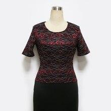 Delicate lace office pencil dress