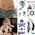 1Pc Waterproof Fake Arm Finger Tattoo Stickers Water Transfer Temporary tattoos Decal Y1-5