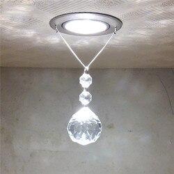 Plafond moderne à LEDs lumière ronde Lustre en cristal Luminarias Para Sala lampes LED pour la maison allée couloir balcon cuisine luminaires